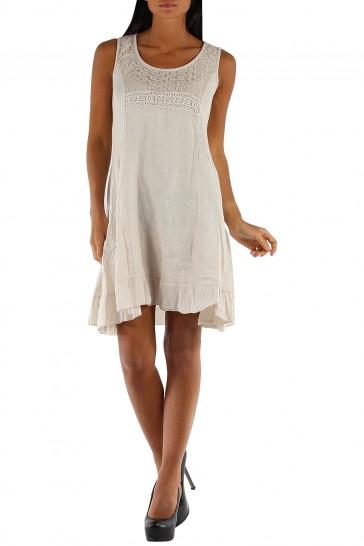 Trumpa lininė suknelė 508NB