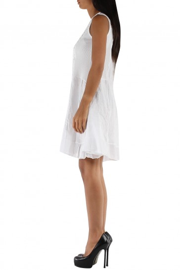 Trumpa lininė suknelė 508B