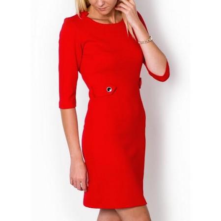 Klasikinio stiliaus suknelė su mini dirželiais
